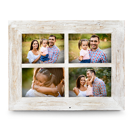 5x7 White Rustic Frame (4)
