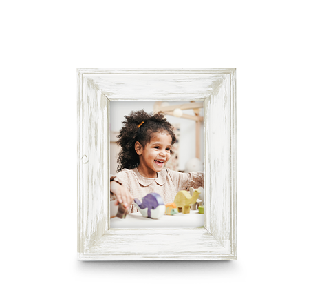 6x8 White Wash Frame