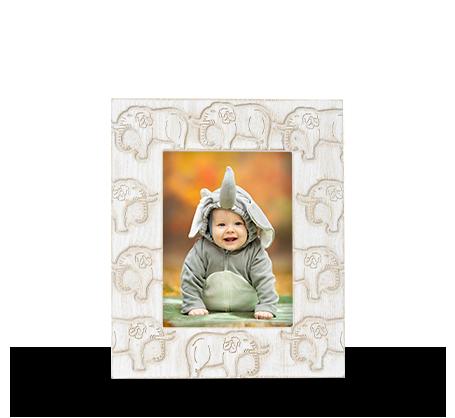 6x8 Carved Elephant Frame