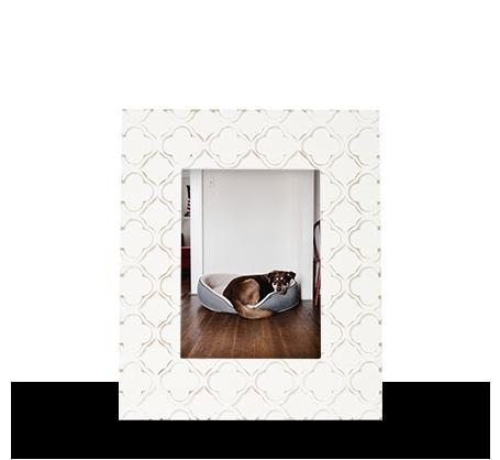 6x8 Carved Damask Frame