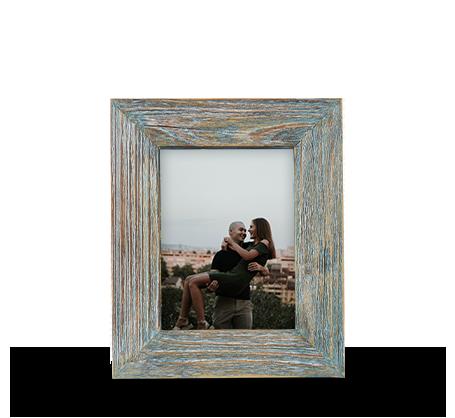 6x8 Green Rustic Frame